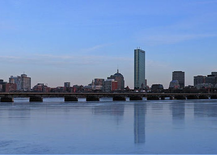 Boston Greeting Card featuring the photograph Beantown On Ice by Juergen Roth