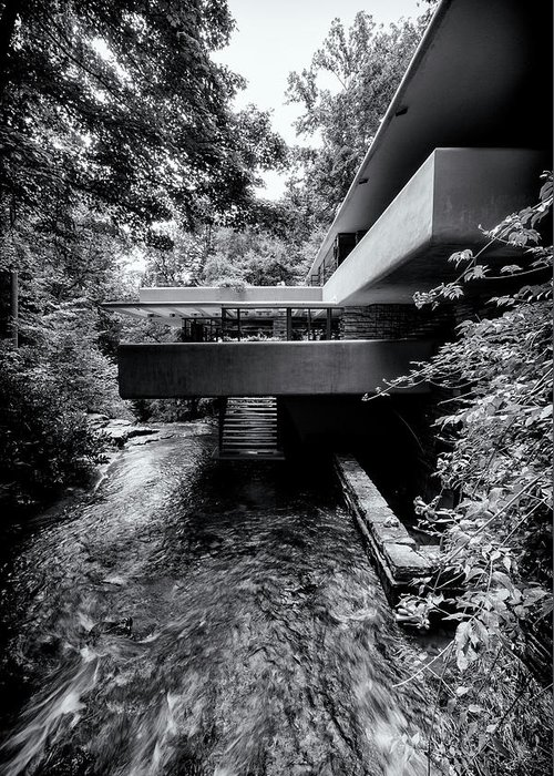 Fallingwater Greeting Card featuring the photograph Bear Run At Fallingwater by Stephen Stookey