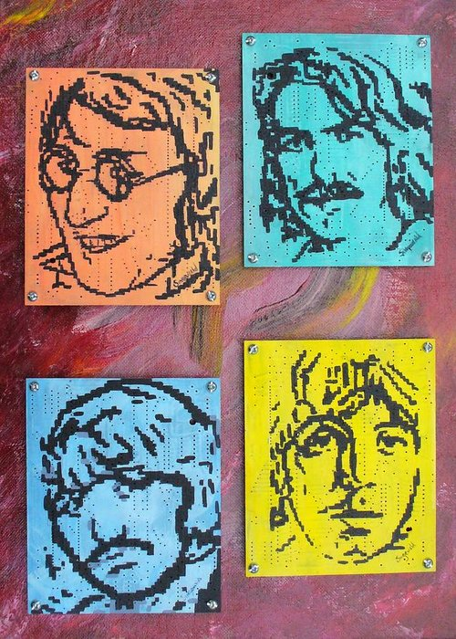 Beatles Greeting Card featuring the painting Beatles Forever by Cary Singewald