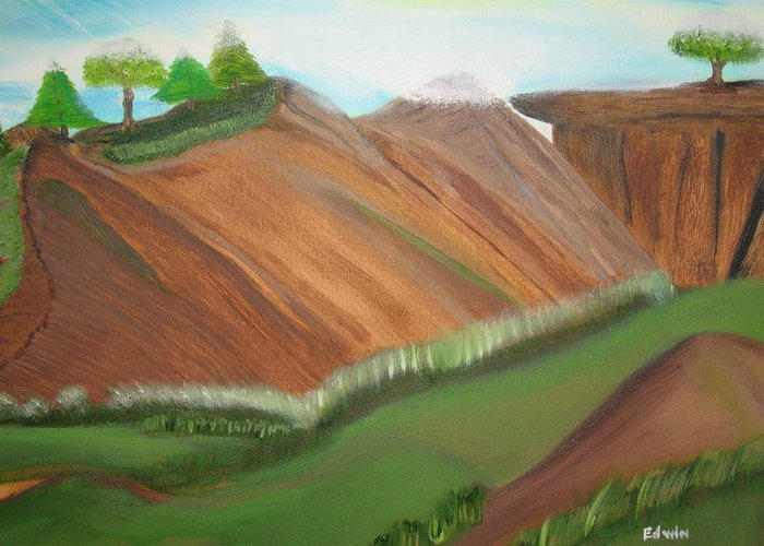 Landscapes Greeting Card featuring the painting Beaulah Land by Edwin Long