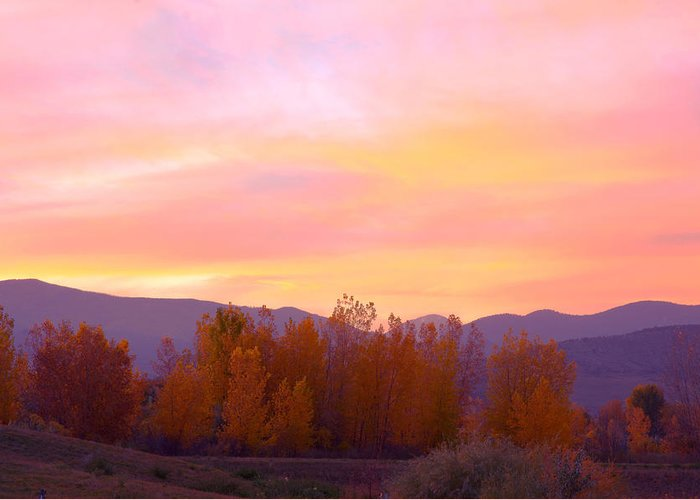 Sunsets Greeting Card featuring the photograph Beautiful Autumn Sunset by James BO Insogna