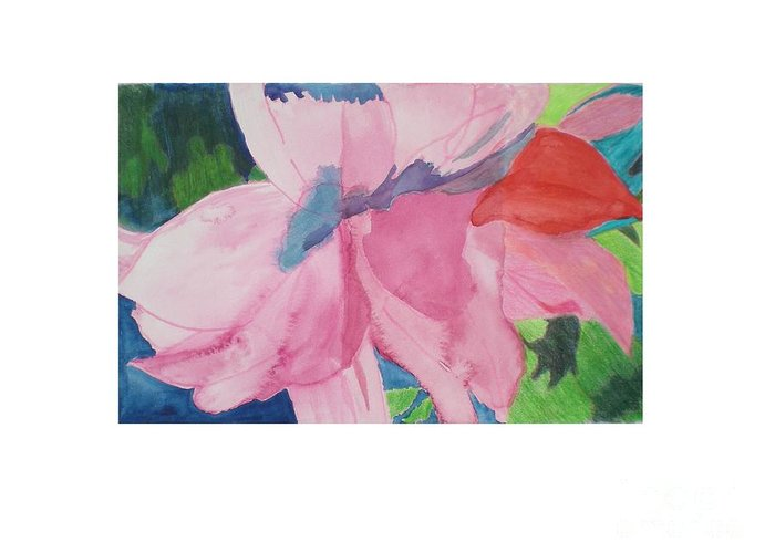 Flower Greeting Card featuring the painting Beautiful Azalea by Hal Newhouser