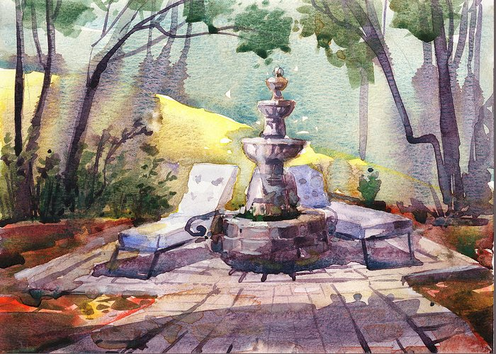 Water Fountain Greeting Cards