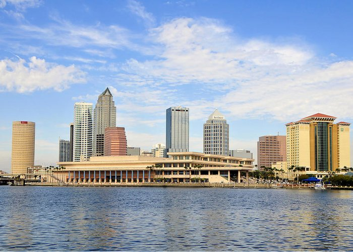 Fine Art Photography Greeting Card featuring the photograph Beautiful Day Tampa Bay by David Lee Thompson