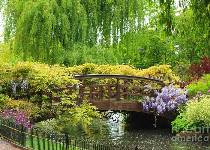 Beautiful Greeting Card featuring the photograph Beautiful Garden Art by Boon Mee
