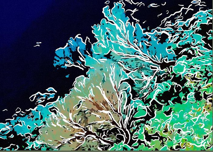 Starfish Greeting Card featuring the painting Beautiful Sea Fan Coral 1 by Lanjee Chee