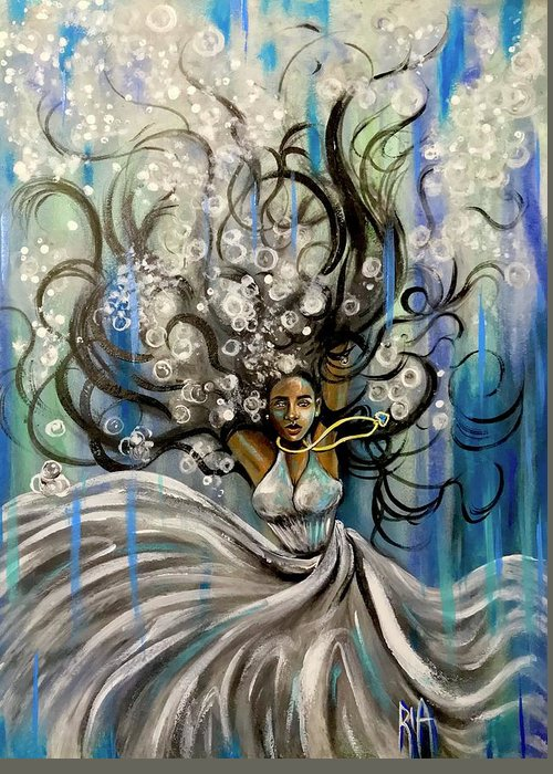 Artist_ria Greeting Card featuring the painting Beautiful Struggle by Artist RiA
