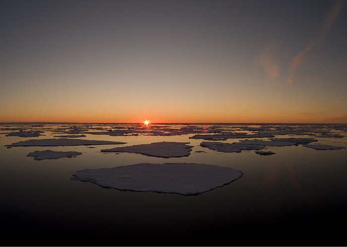 Outdoors Greeting Card featuring the photograph Beautiful Sunset Over An Arctic Ice by Norbert Rosing