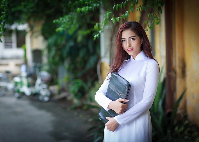 Beautiful vietnamese women with ao dai greeting card for sale by ao greeting card featuring the photograph beautiful vietnamese women with ao dai by huynh thu m4hsunfo