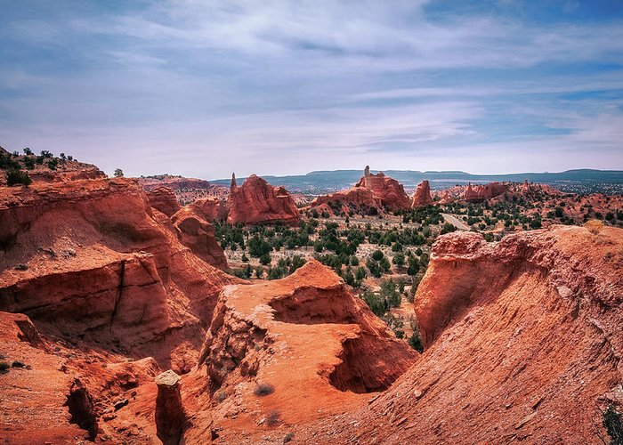 Bryce Greeting Card featuring the photograph Beautiful View From Above At Kodachrome Basin State Park by Daniela Constantinescu