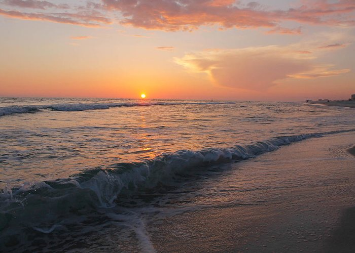 Waves Greeting Card featuring the photograph Beauty Before The Sun by Jessica Pate
