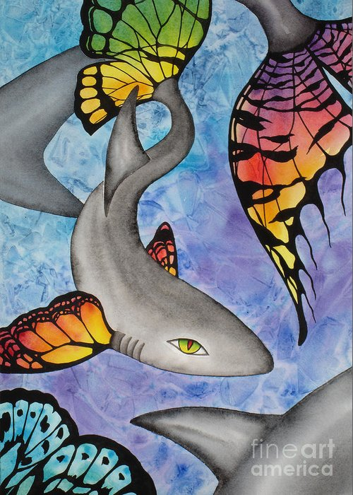 Surreal Greeting Card featuring the painting Beauty In The Beasts by Lucy Arnold