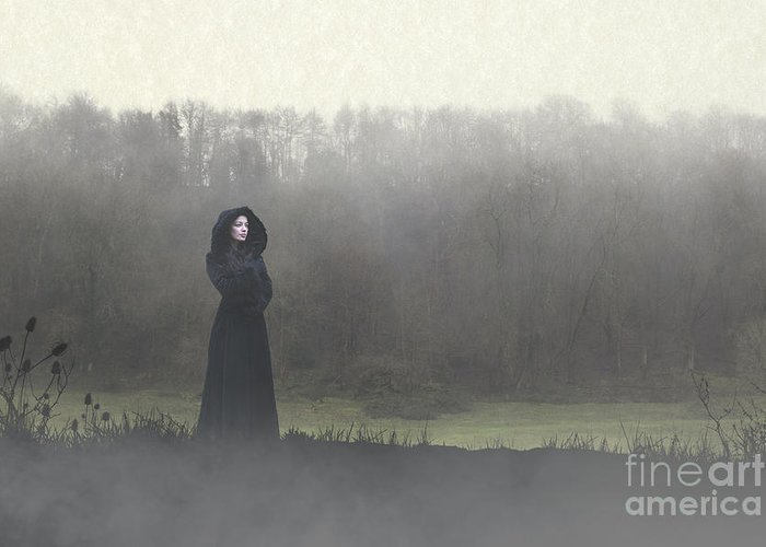 Woman Greeting Card featuring the photograph Beauty In The Fog by Clayton Bastiani