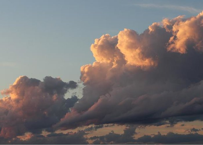 Clouds Greeting Card featuring the photograph Beauty In The Sky by Claudette Letendre