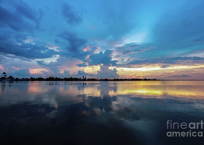 Florida Sunset Greeting Card featuring the photograph Beauty Over The Water by Jon Neidert