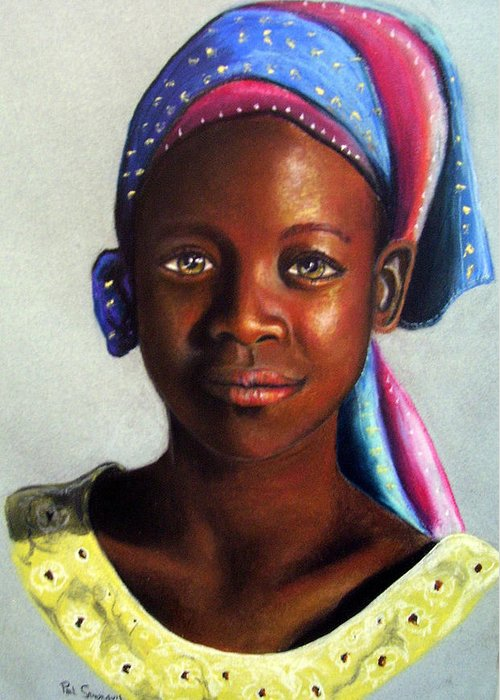 African Greeting Card featuring the painting Beauty by Paul Sandilands