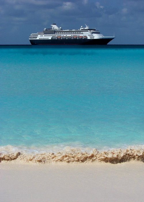 Cruise Ships Greeting Card featuring the photograph Beckoning by Karen Wiles