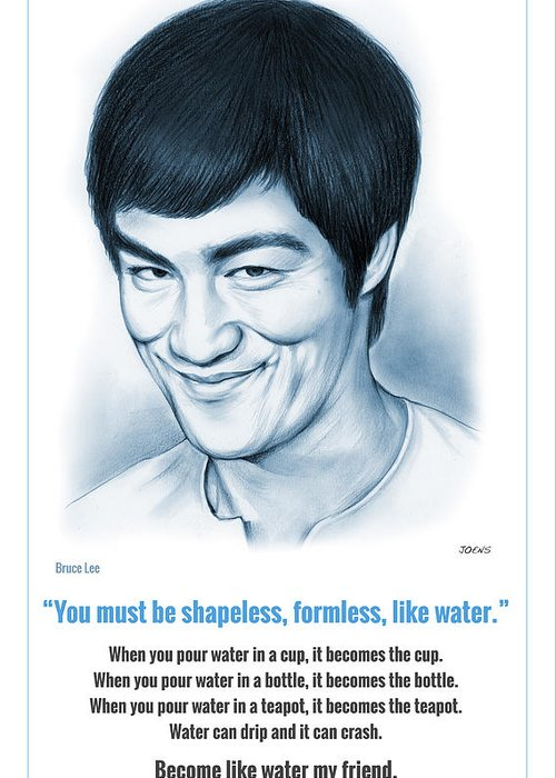 Bruce Lee Drawings Greeting Cards