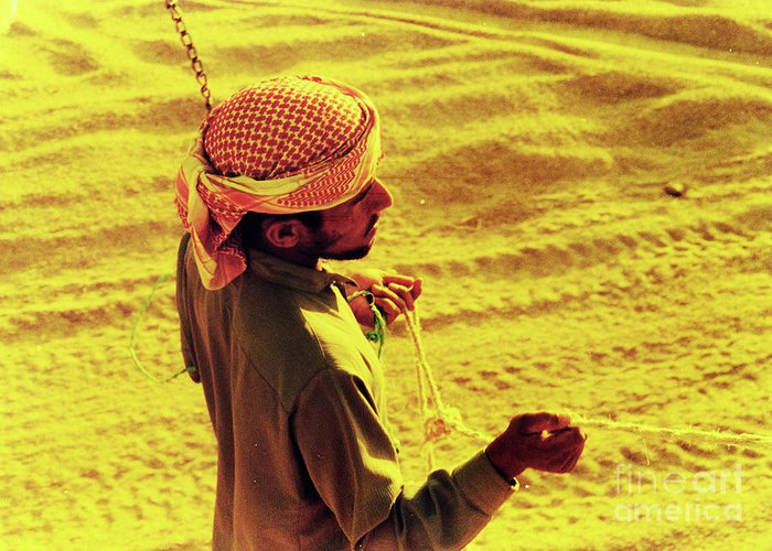Egypt Greeting Card featuring the photograph Bedouin Guide by Elizabeth Hoskinson