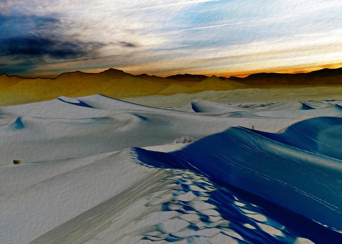 Death Valley Greeting Card featuring the photograph Been Through The Desert by Joe Schofield