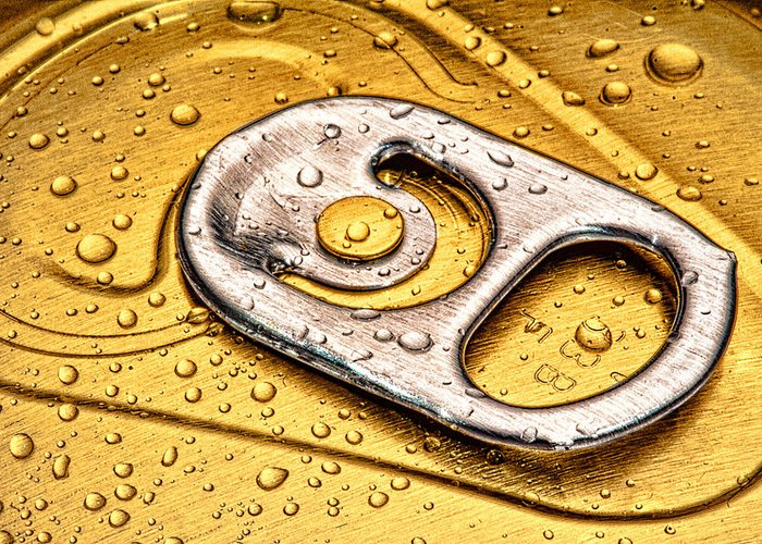 Can Greeting Card featuring the photograph Beer Can Pull Tab by Tom Mc Nemar