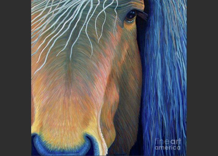 Horse Greeting Card featuring the painting Before Sundown by Brian Commerford