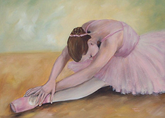 Dancer Greeting Card featuring the painting Before The Ballet by Torrie Smiley