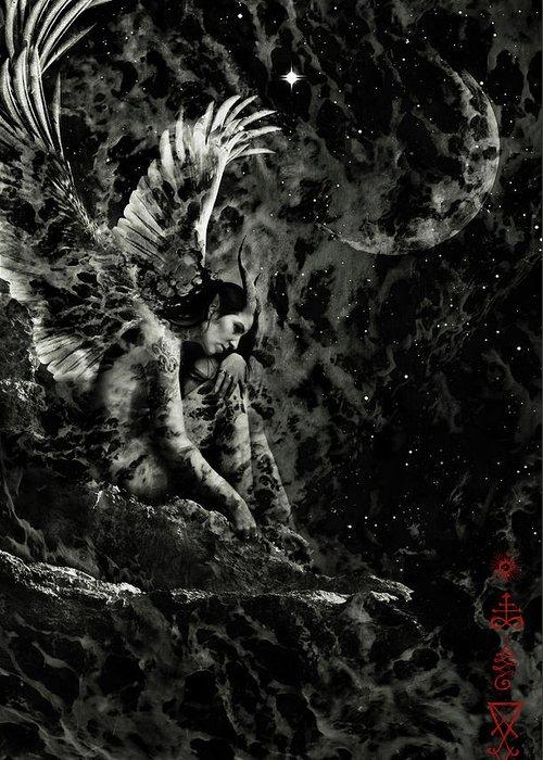 Night Angel Digital Art Greeting Cards