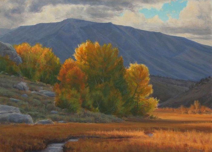 Auntumn Greeting Card featuring the painting Before The Snow by Joe Mancuso