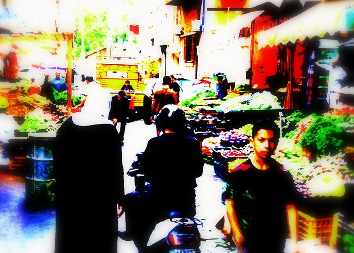 Lebanon Greeting Card featuring the photograph Beirut Market Funk by Funkpix Photo Hunter