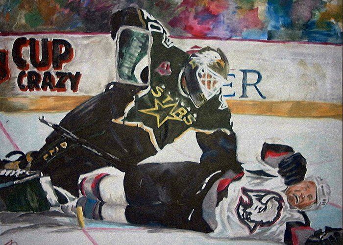 Belfour Greeting Card featuring the painting Belfour by Travis Day