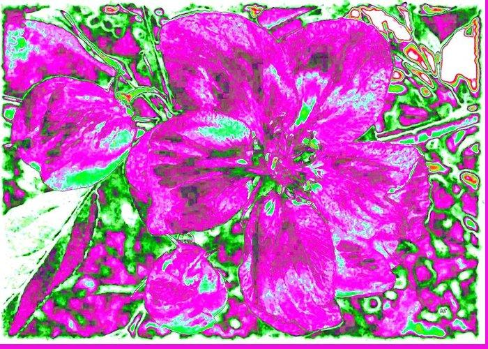Bella Flora Greeting Card featuring the digital art Bella Flora 2 by Will Borden