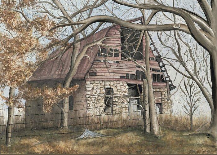 Barn Greeting Card featuring the painting Bella Vista Barn by Patty Vicknair