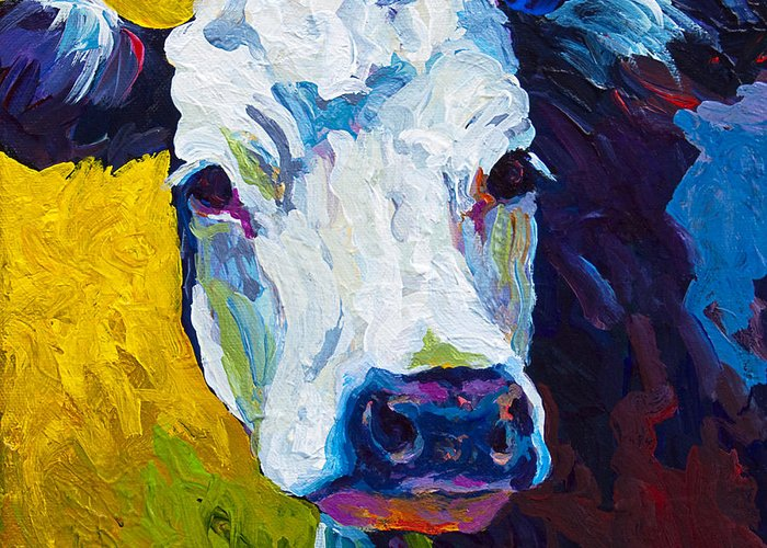 Cows Greeting Card featuring the painting Belle by Marion Rose