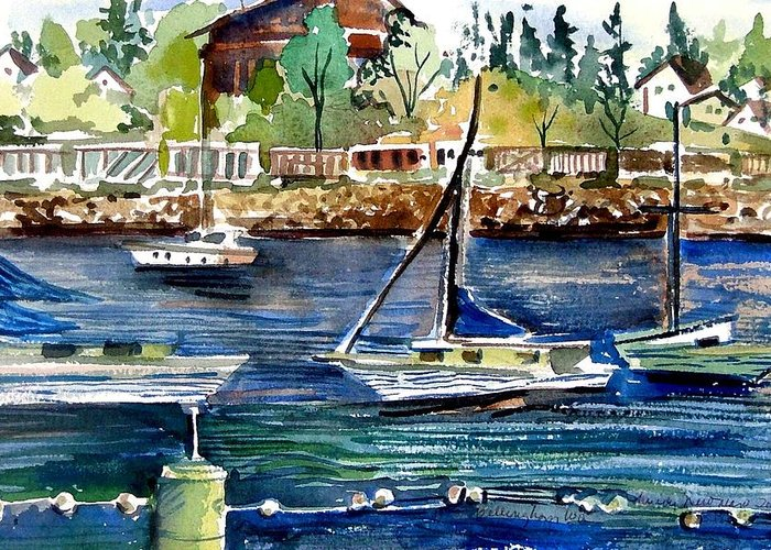 Bellingham Greeting Card featuring the painting Bellingham Washington The Beauty by Mindy Newman