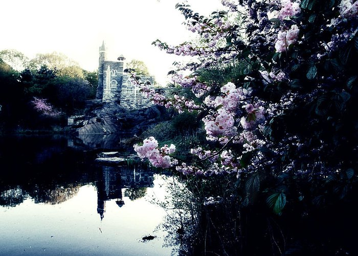 New York Greeting Card featuring the photograph Belvedere Castle by Ariane Moshayedi