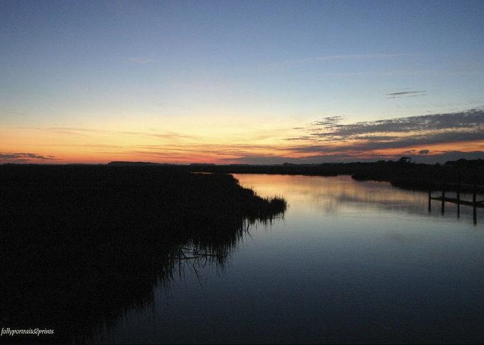 Greeting Card featuring the photograph Bend In The River by Bonnes Eyes Fine Art Photography