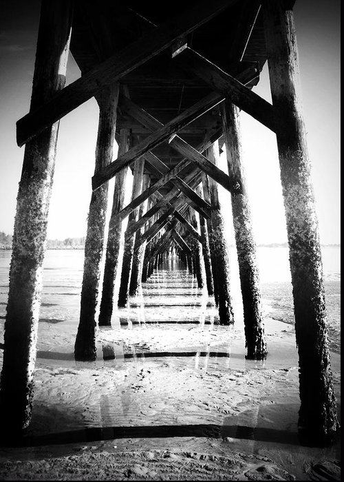 Pier Greeting Card featuring the photograph Beneath The Pier by Tara Turner