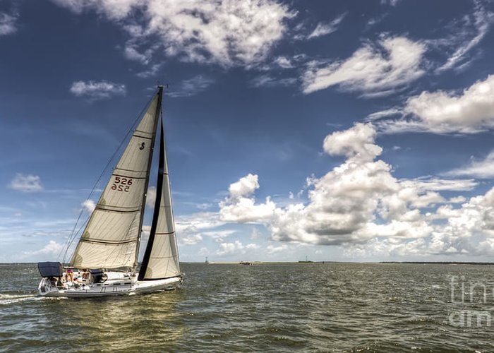 Beneteau First 40.7 Greeting Card featuring the photograph Beneteau First 40.7 by Dustin K Ryan