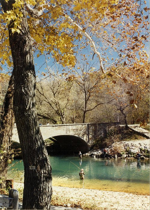 Landscape Greeting Card featuring the photograph Bennet Springs by Steve Karol