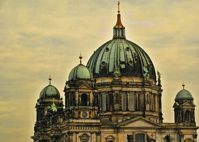 Berlin Greeting Card featuring the photograph Berlin Architecture by Jon Berghoff