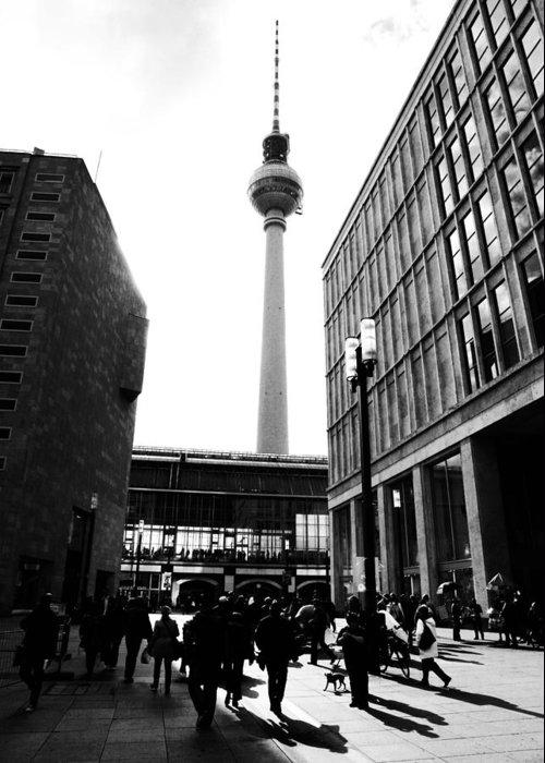 Berlin Greeting Card featuring the photograph Berlin Street Photography by Falko Follert