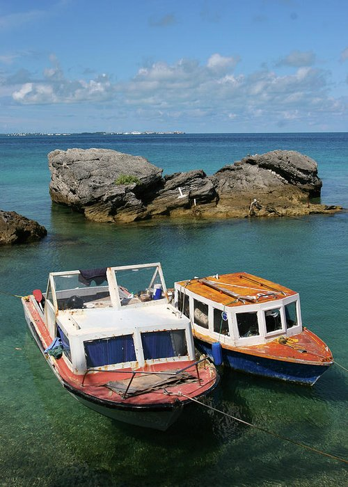 Bermuda Greeting Card featuring the photograph Bermuda Boats by Lori Goodwin