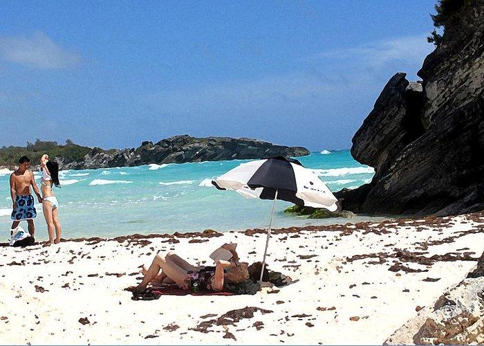 Bermuda Greeting Card featuring the photograph Bermuda On The Beach by Ian MacDonald