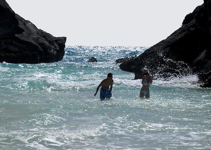 Bermuda Greeting Card featuring the photograph Bermuda Splash by Ian MacDonald