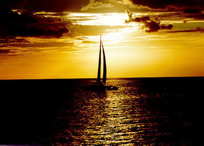 Sunset Greeting Card featuring the photograph Bermuda Sunset by Russ Mullen