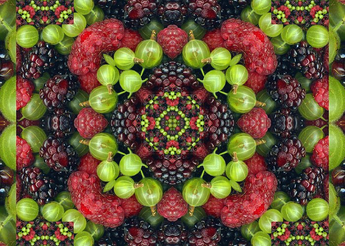 Yoga Art Greeting Card featuring the photograph Berry Good by Bell And Todd