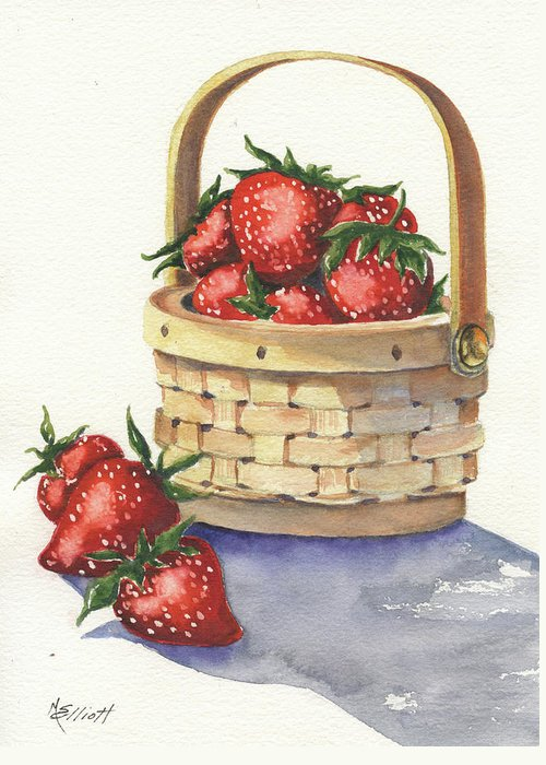 Berry Greeting Card featuring the painting Berry Nice by Marsha Elliott