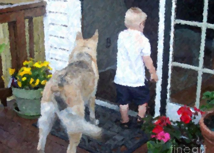 Dogs Greeting Card featuring the photograph Best Friends by Debbi Granruth