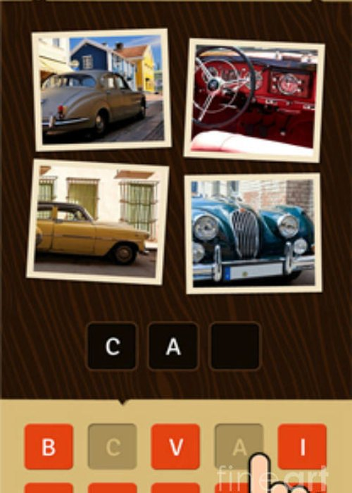 Greeting Card featuring the photograph Best Game For Entertainment by Guezz It Word guessing game
